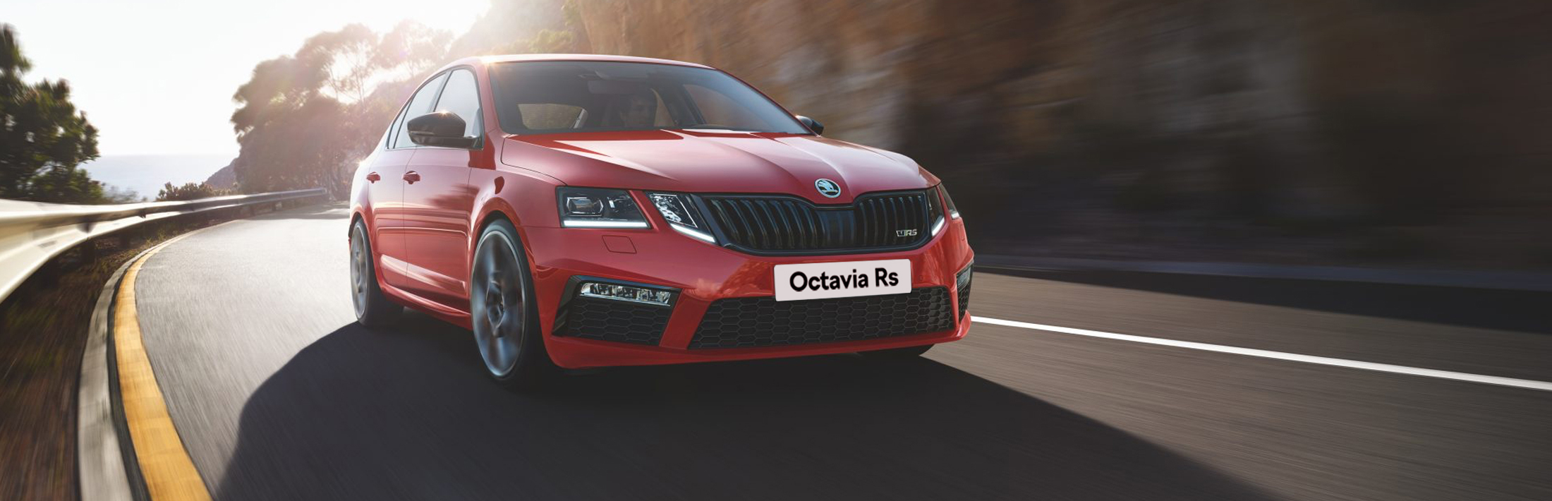 Skoda Octavia Red front on