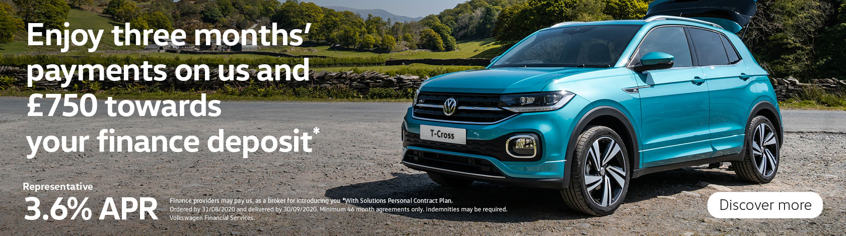 T-Cross 3.6% £750 Deposit Contribution