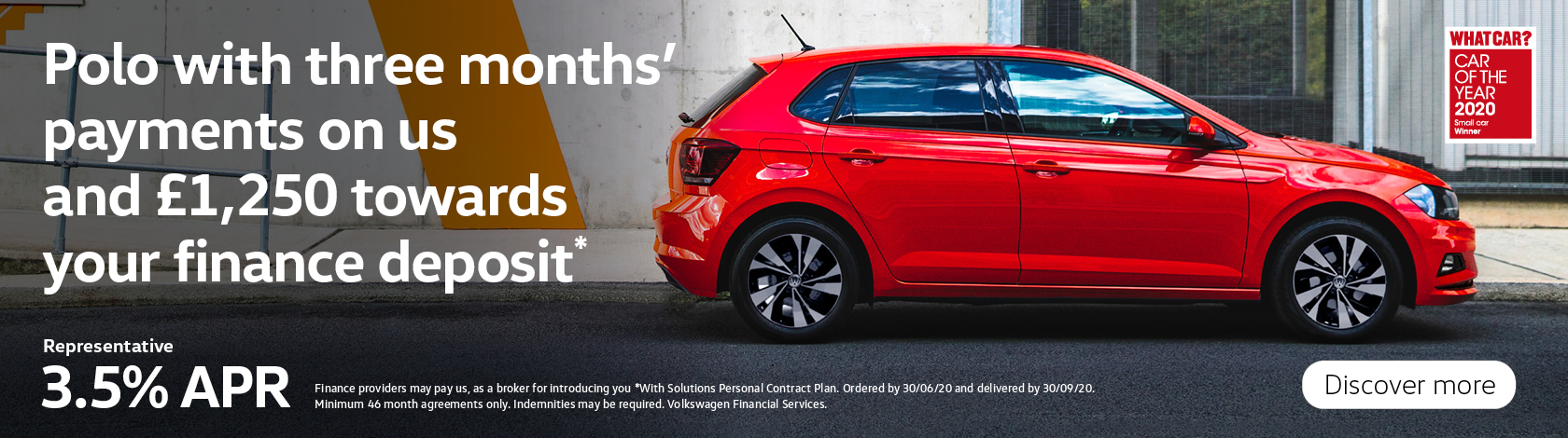 Polo Match 3.5% APR £1,250 Deposit Contribution