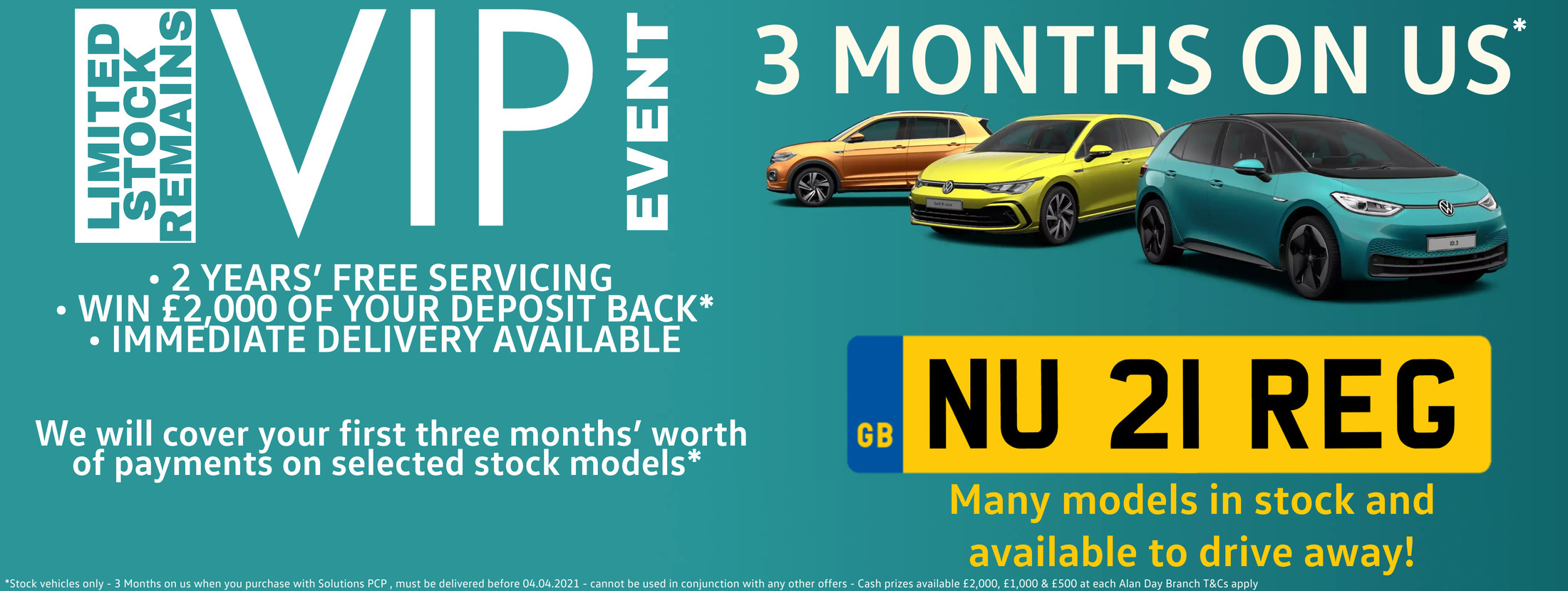 VIP New Car Stock Clearance